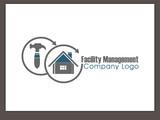 Fototapety Logo für Handwerker - Service rund um Immobilien