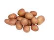 fresh mini potatoes on a white background