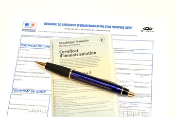 Demande certificat d'immatriculation