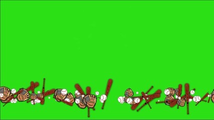 Background with chroma key green: baseball