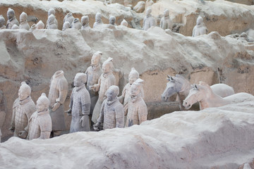 Terracotta warriors excavation, Xian, China
