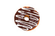Donut with Chocolate Icing Isolated on a White Background