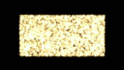 Flashing gold metal,broken debris,particles,slowed down to show