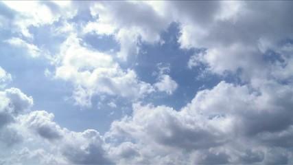 weisse Wolken, Zeitraffer Tag