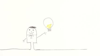 pupazzo con lampadina