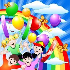 Compleanno Bambini e Palloncini-Children Birthday and Balloons