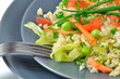 risotto z warzywami i zielonym groszkiem