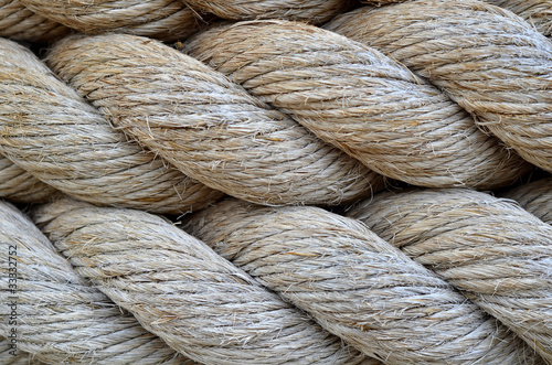 Abstract Background Texture Of Thick, Strong Rope