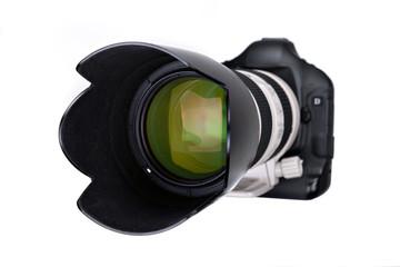 professionell SLR Camera wiht lens