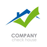 Logo check house # Vector