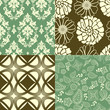 Set of tiling wallpaper patterns