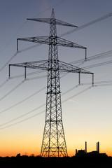 hochspannungsmast und kraftwerk-nord
