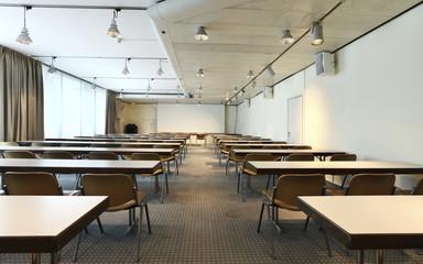 aula vuota, nessuno all'interno