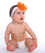 Baby Girl wearing diapers