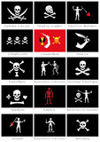 Pavillon noir de pirates