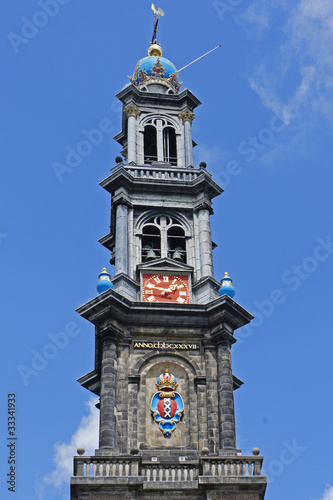 Kirchturm der Westerkerk in AMSTERDAM / Niederlande