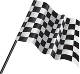 checkered, chequered motor racing flag