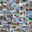 Collage Ferienzeit am Ostseestrand auf Rügen