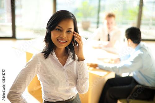 Corporate Female Using Phone