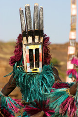 Dogon dancer with mask