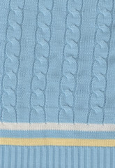 a blue knit tennins sweater background stripped pattern