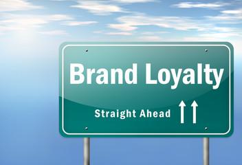 "Highway Signpost ""Brand Loyalty"""
