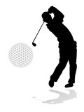 golf player illustration