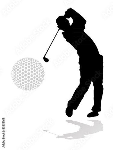 Fototapeta golf player illustration