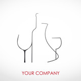 Logo Wine enterprise # Vector poster