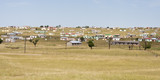 Shacks in Transkei South Africa corrigated iron homes