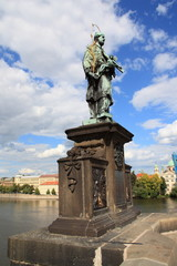 Prag, Karlsbrücke, Nepomuk Denkmal
