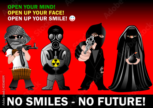 Open up your smile. Stop terror now