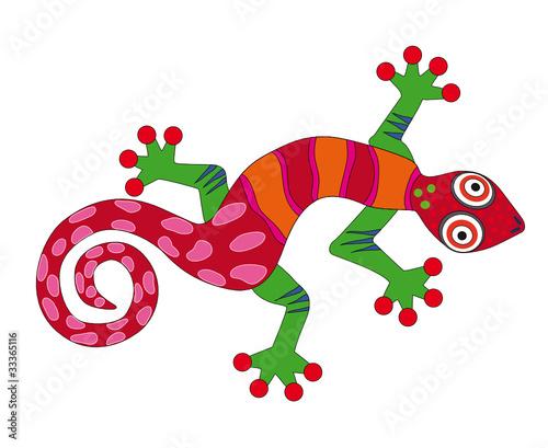 Fototapeta jaszczurka - salamandra - Dekoracja