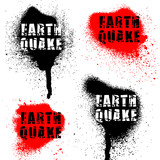 earthquake word on spatters