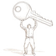 uomo e chiave