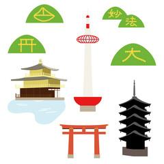 京都のイラスト