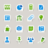 Papercut - Office and Business icons poster