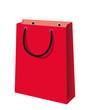 Rote Einkaufstüte