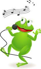 happy frog singing