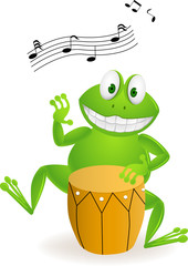 frog with drum