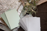 Light green and neutral swatches