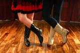 Line Taniec żeński nogi w Cowboy Western Buty