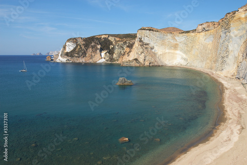 Italy, island of Ponza. The rocky shore