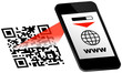 Smartphone White Display QR-Code Scan www