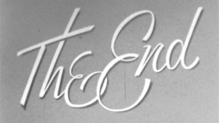 THE END Vintage 8mm Film Leader Texture Loop