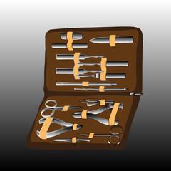 Manicure tools vector illustration