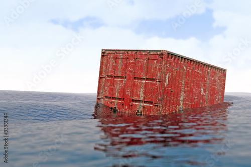 Leinwanddruck Bild verlorener Container