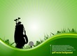 green golf background.vector