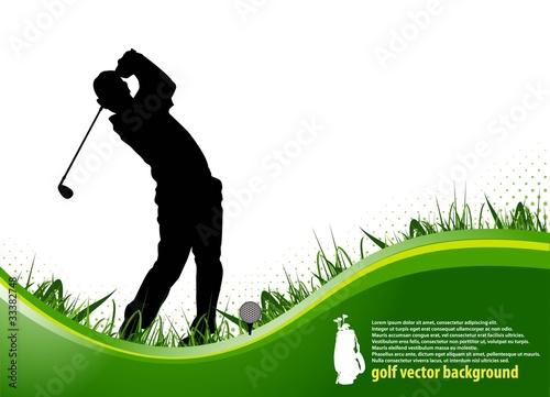 Fototapeta golf player background