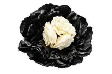 Broche para el pelo con flores de tela